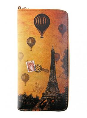 Peňaženka Paríž - hnedá koža