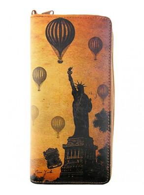 Peňaženka New York - hnedá koža