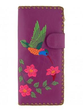 Peňaženka Kolibrík - fialová koža